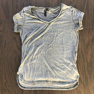Distressed Cotton On Gray Rolled Sleeve Tee